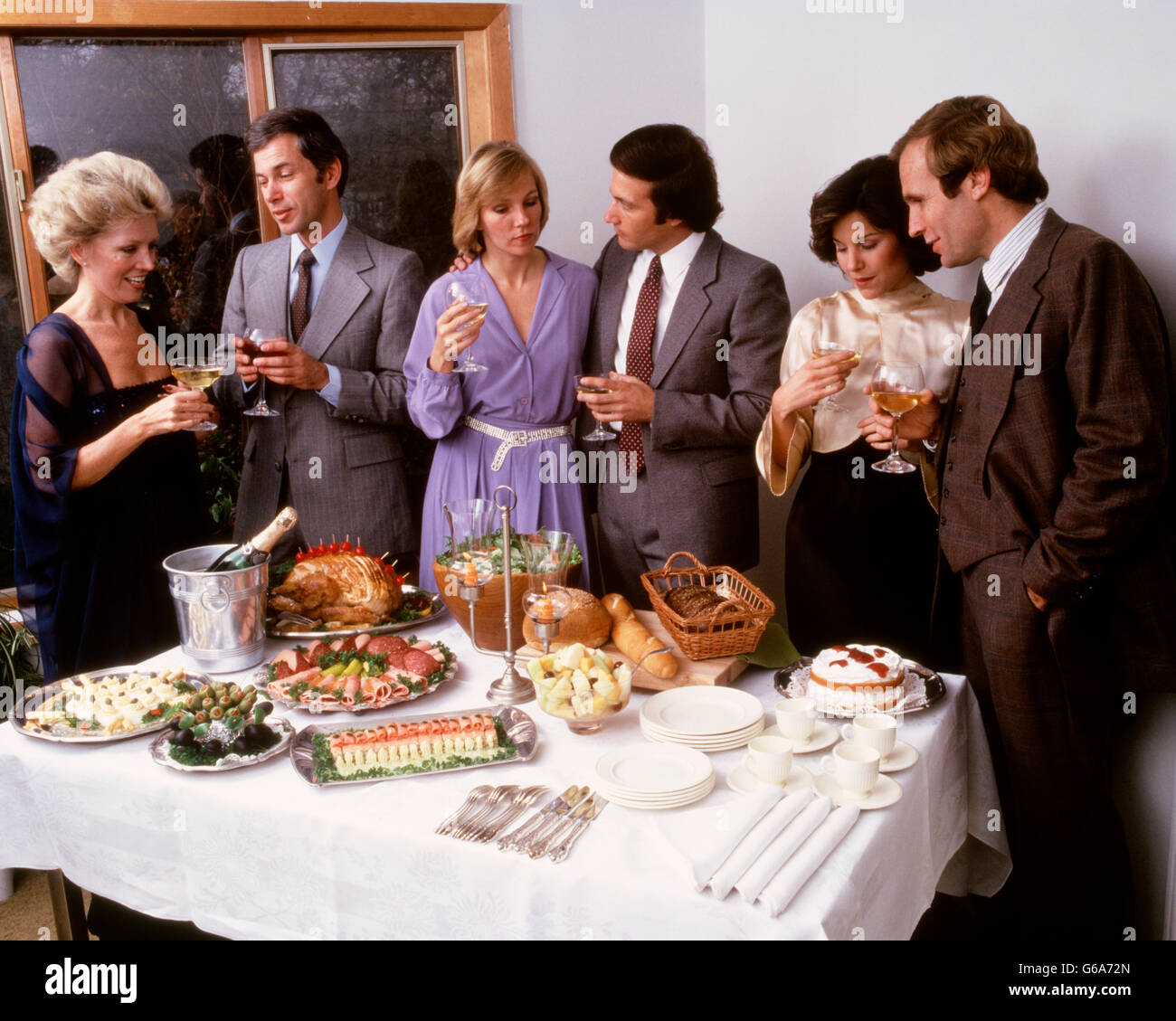 1980s Food Table Stock Photos & 1980s Food Table Stock