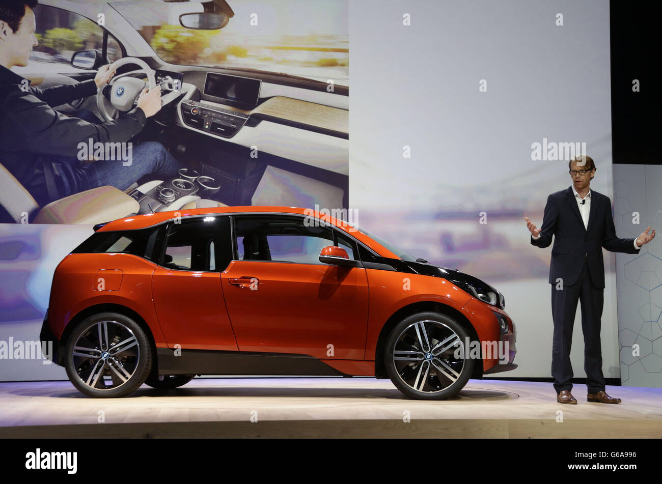 Bmw Electric Car Launch Stock Photo 107176978 Alamy