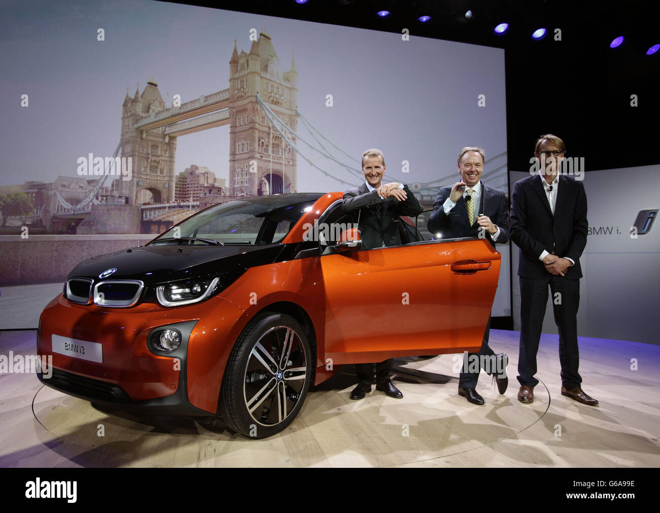 Bmw Electric Car Launch Stock Photo 107176986 Alamy