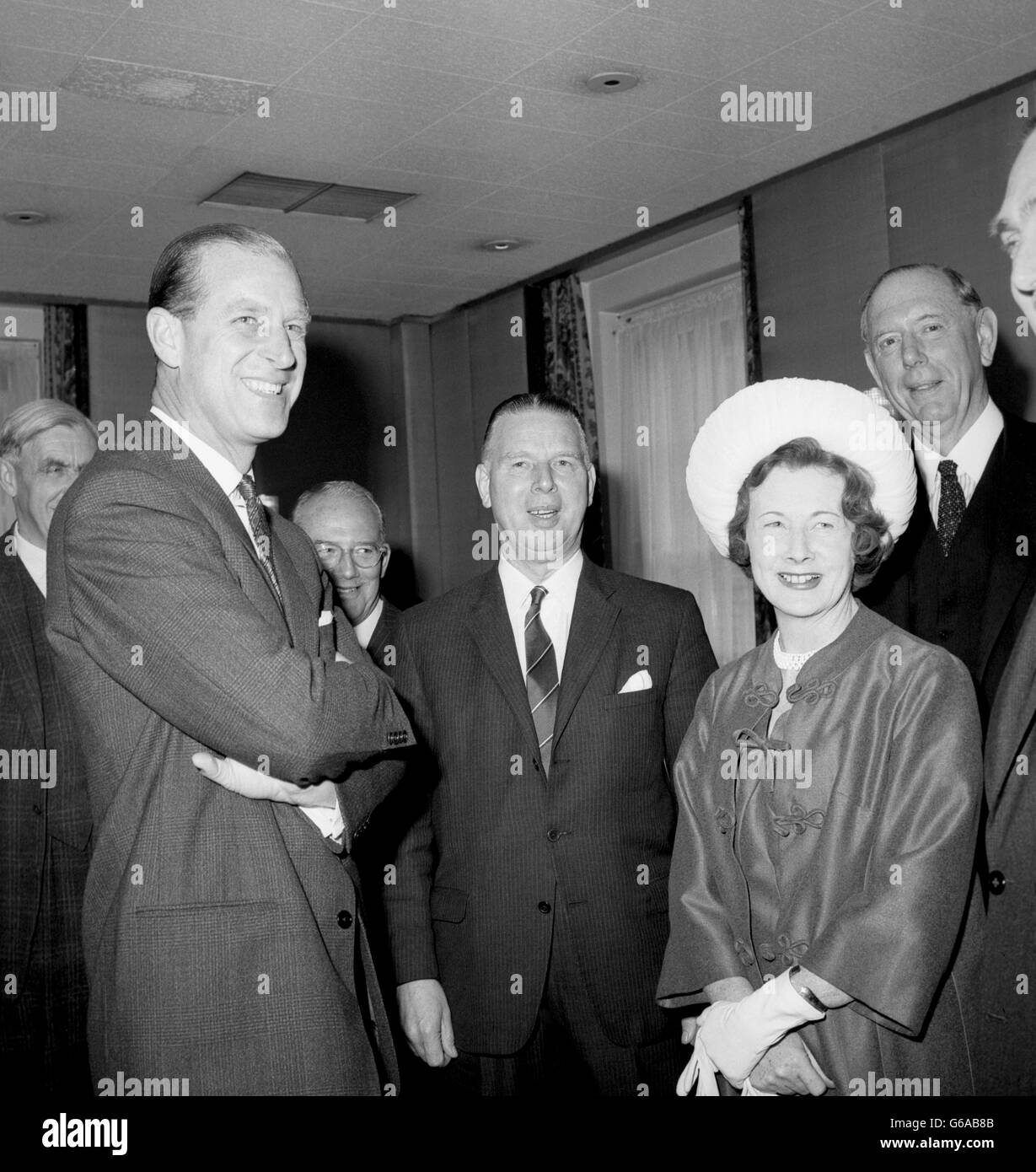 Royal Visit - New Commonwealth Journal Luncheon - Europa Hotel, London - Stock Image
