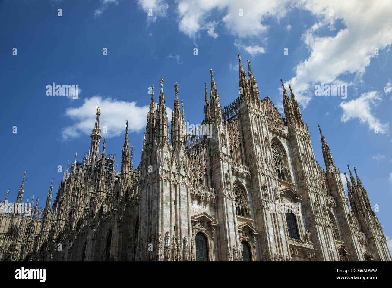 Duomo di milano, Milan Cathedral, symbol of the Lombardy and throughout Italy - Stock Image