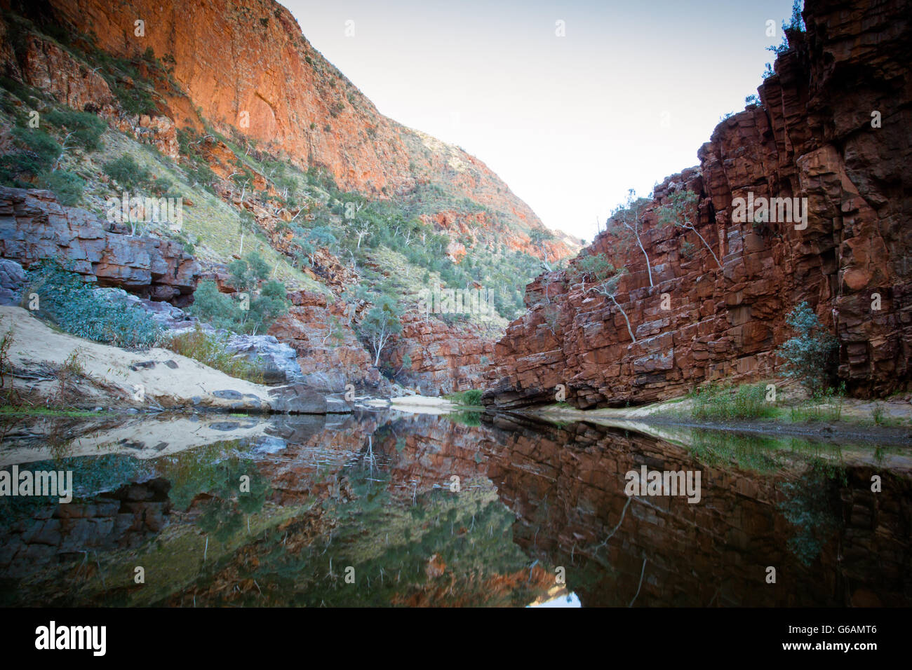 The impressive views of Ormiston Gorge in the West MacDonnell Ranges in Northern Territory, Australia - Stock Image