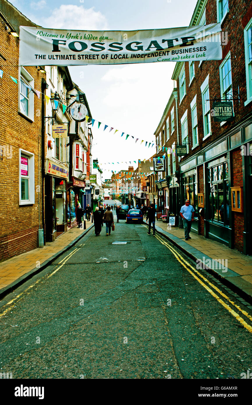 Fossgate, York - Stock Image
