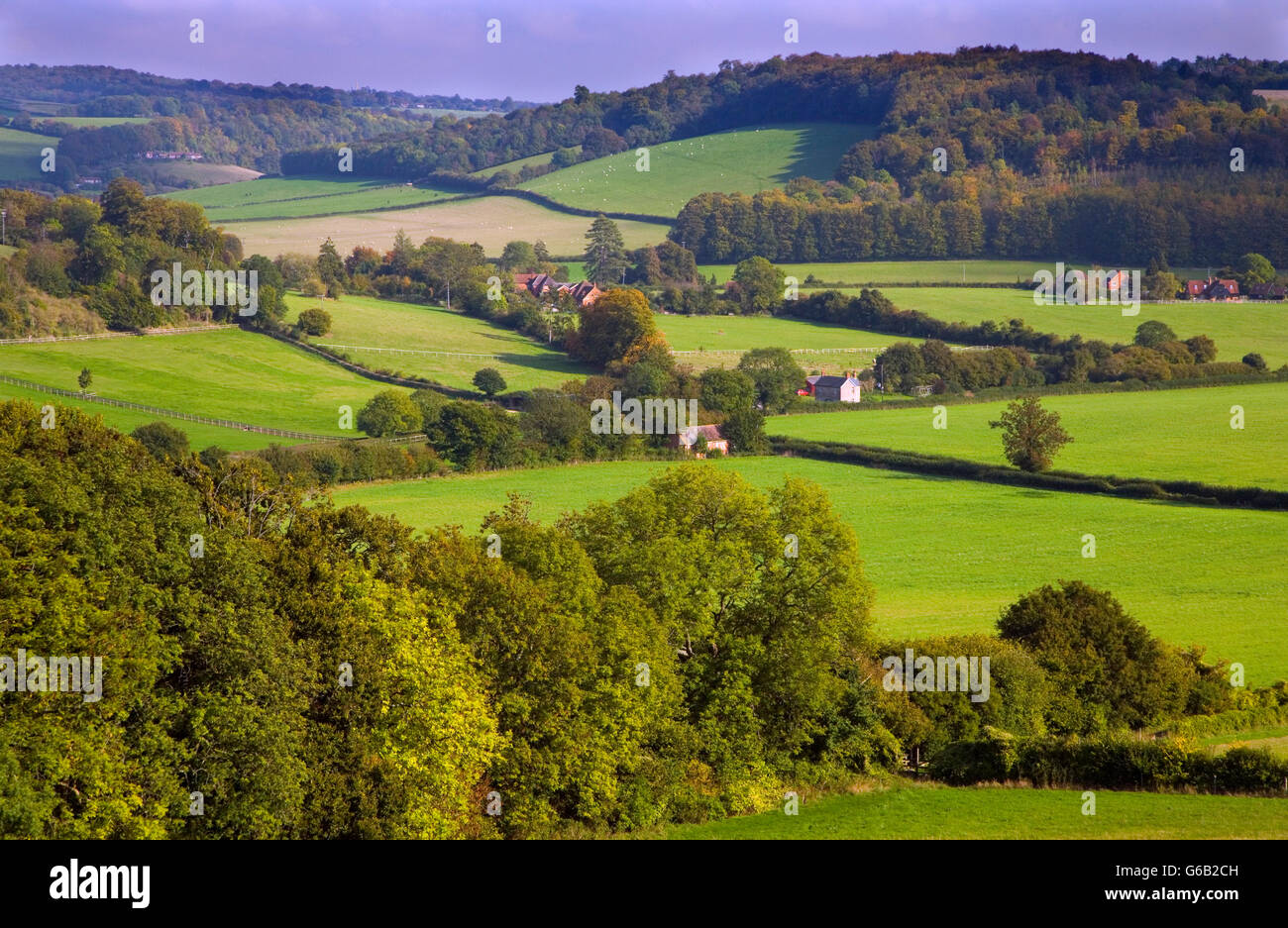 Hambleden Valley  Buckinghamshire UK October - Stock Image