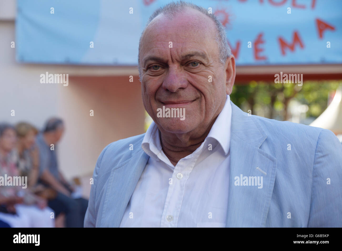 Cap of Agde, France. June 2016.J. C Bouvet attends at the Herault of Cine & TV on June , 2016 in France.© - Stock Image