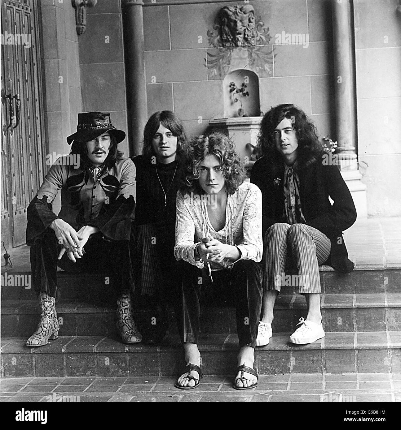 Led Zeppelin Black And White Photography