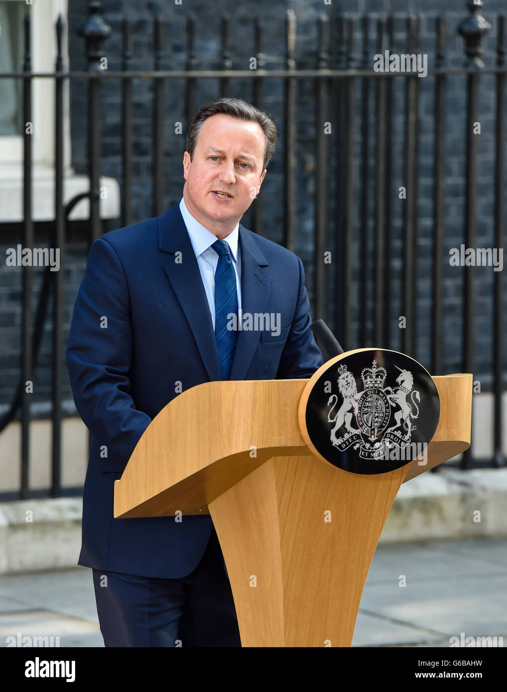 London, UK. 23rd June, 2016. London 24th June 2016, Prime Minister David Cameron resigns as a result of the EU Referendum Stock Photo