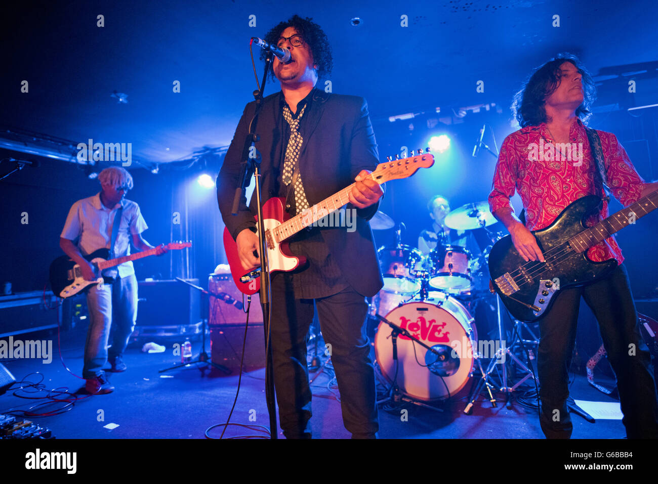Manchester, UK. 23rd June, 2016. Love Revisited in concert at the Ruby Lounge, Manchester, UK. The band has reformed - Stock Image