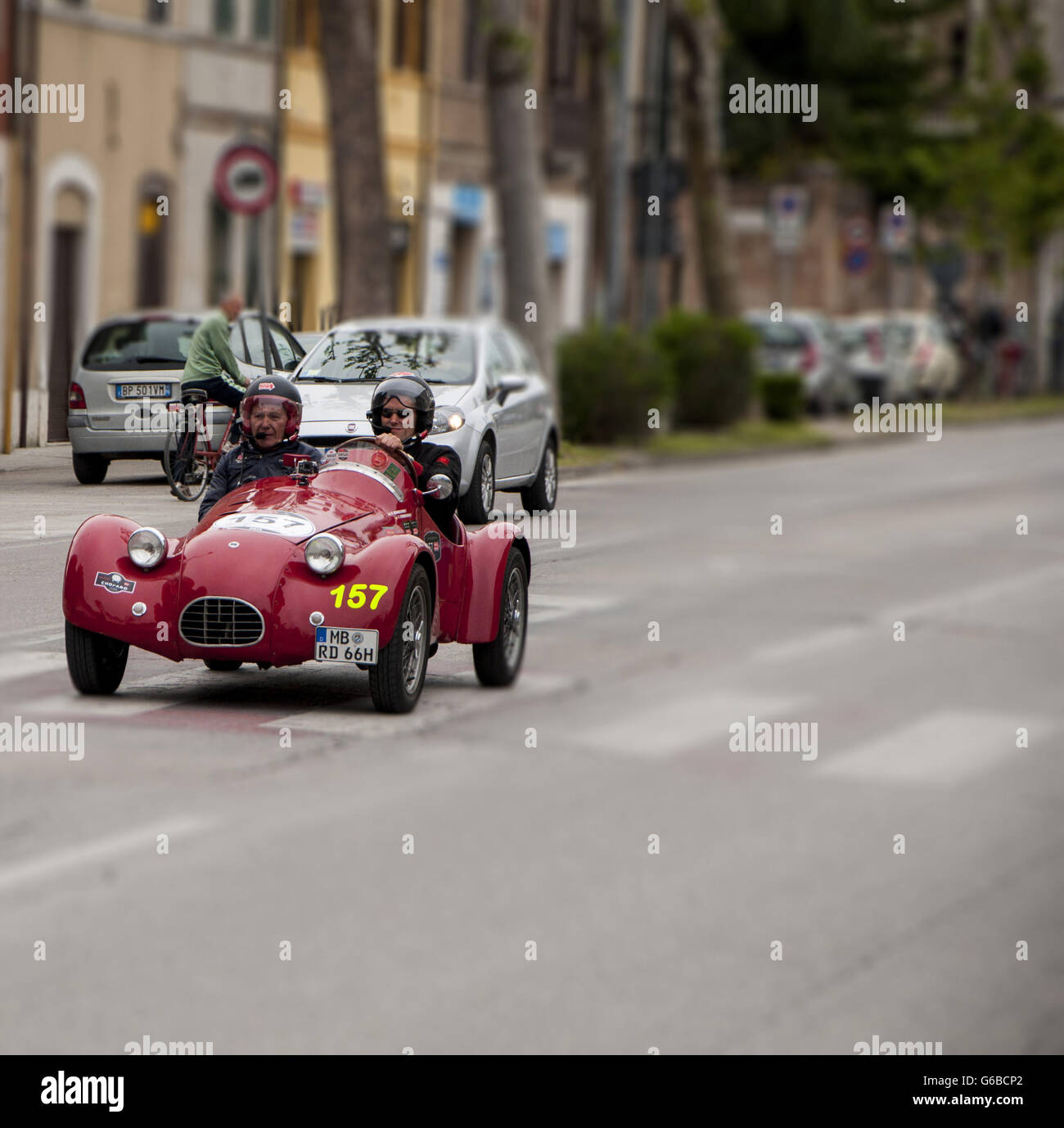 FANO, ITALY - MAY 16: FIAT 750 Sport 1948 old racing car in rally ...