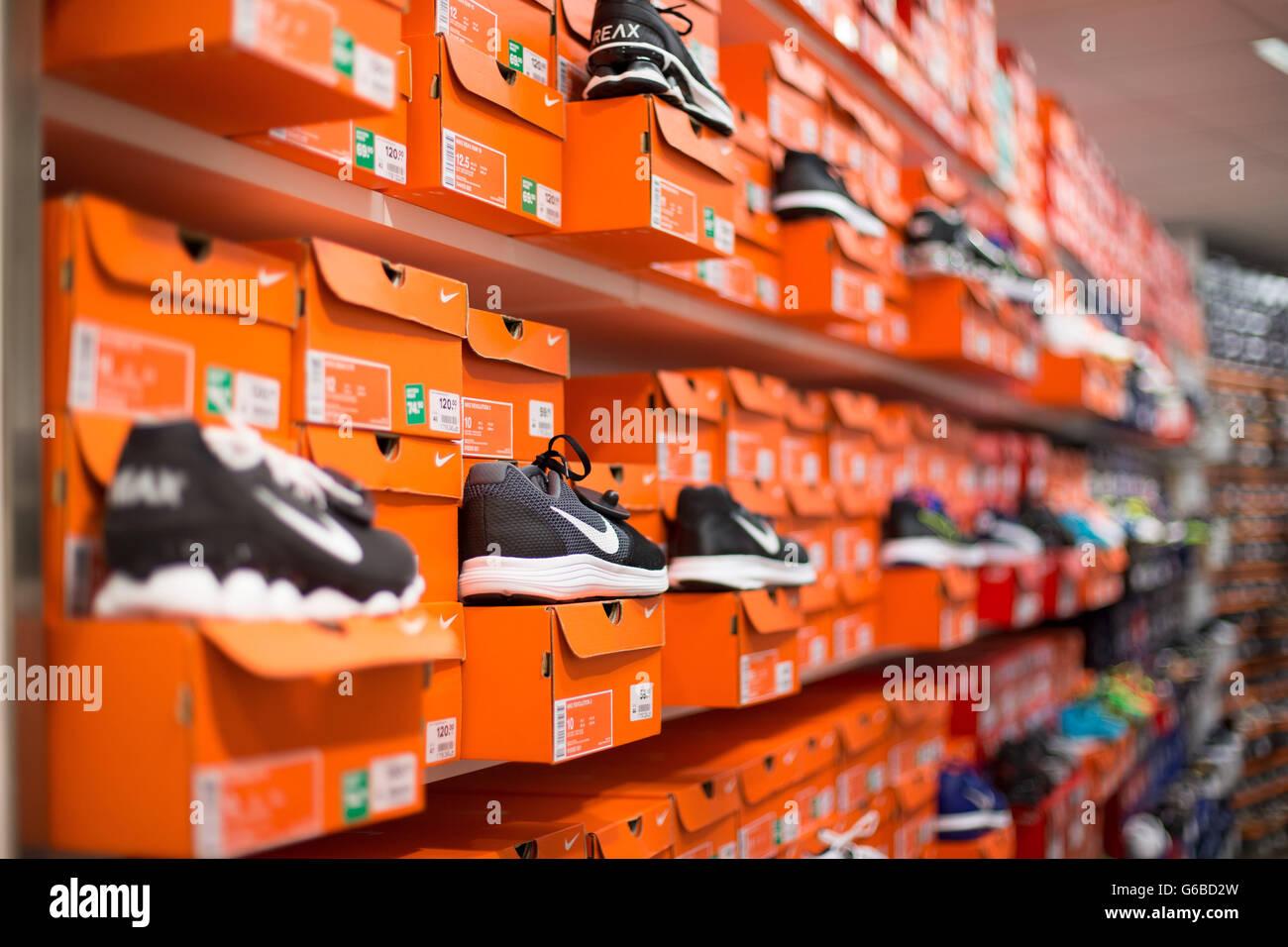 sale at a Deichmann Stock Photo