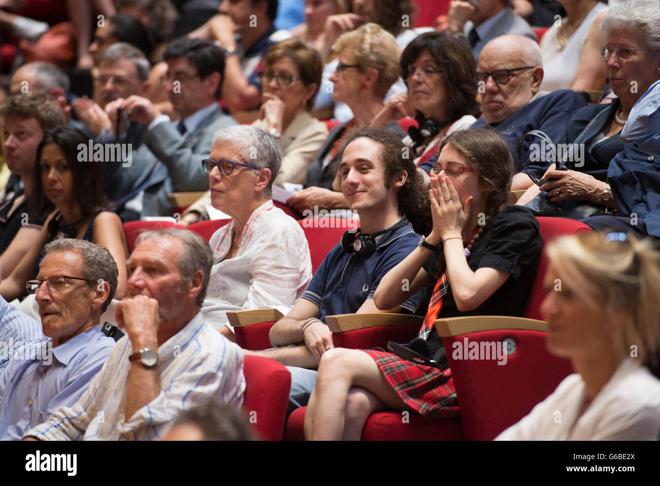 Turin, Italy - June 24, 2016: The Science of Interstellar Conference with Professor Kip Thorne of the California - Stock Image