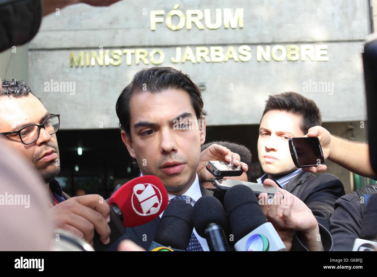 SAO PAULO, Brazil - 06/24/2016: PROSECUTOR GIVES RODRIGO GRANDIS COLLECTIVE - The prosecutor Rodrigo de Grandis - Stock Image