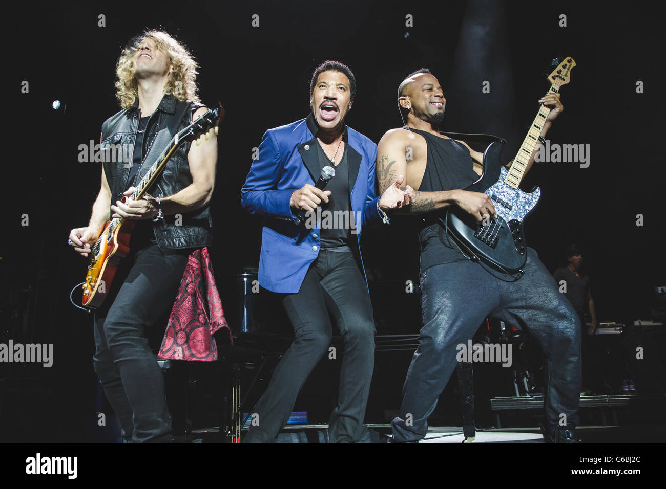 Manchester Arena, UK. June 29, 2016 - American singer/songwriter, Lionel Richie, performs at the Manchester Arena - Stock Image