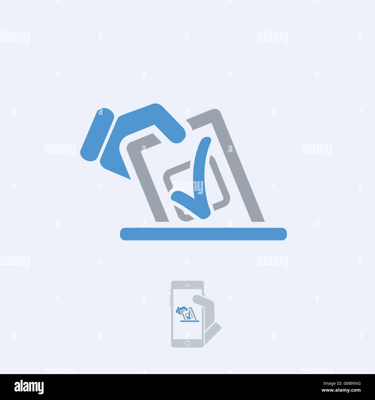 Choice icon Stock Vector