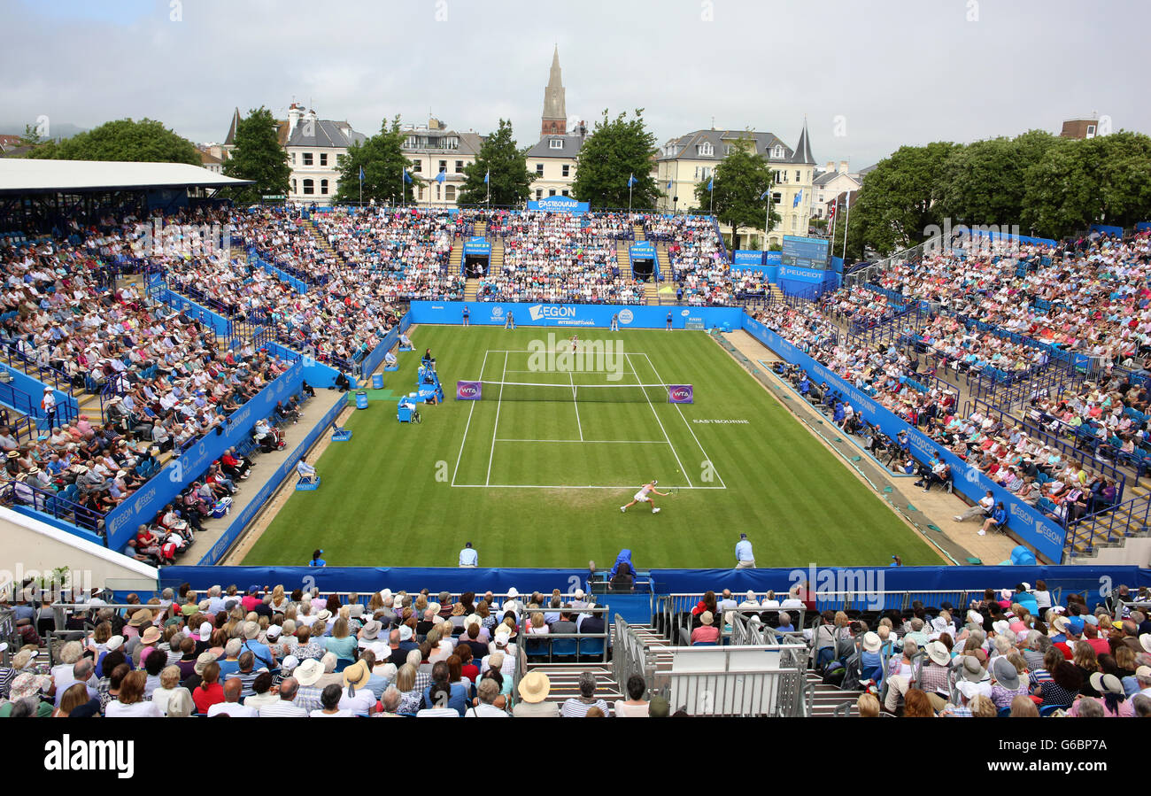 General view Centre Court during the 2016 Aegon International Tennis Tournament in Eastbourne. - Stock Image