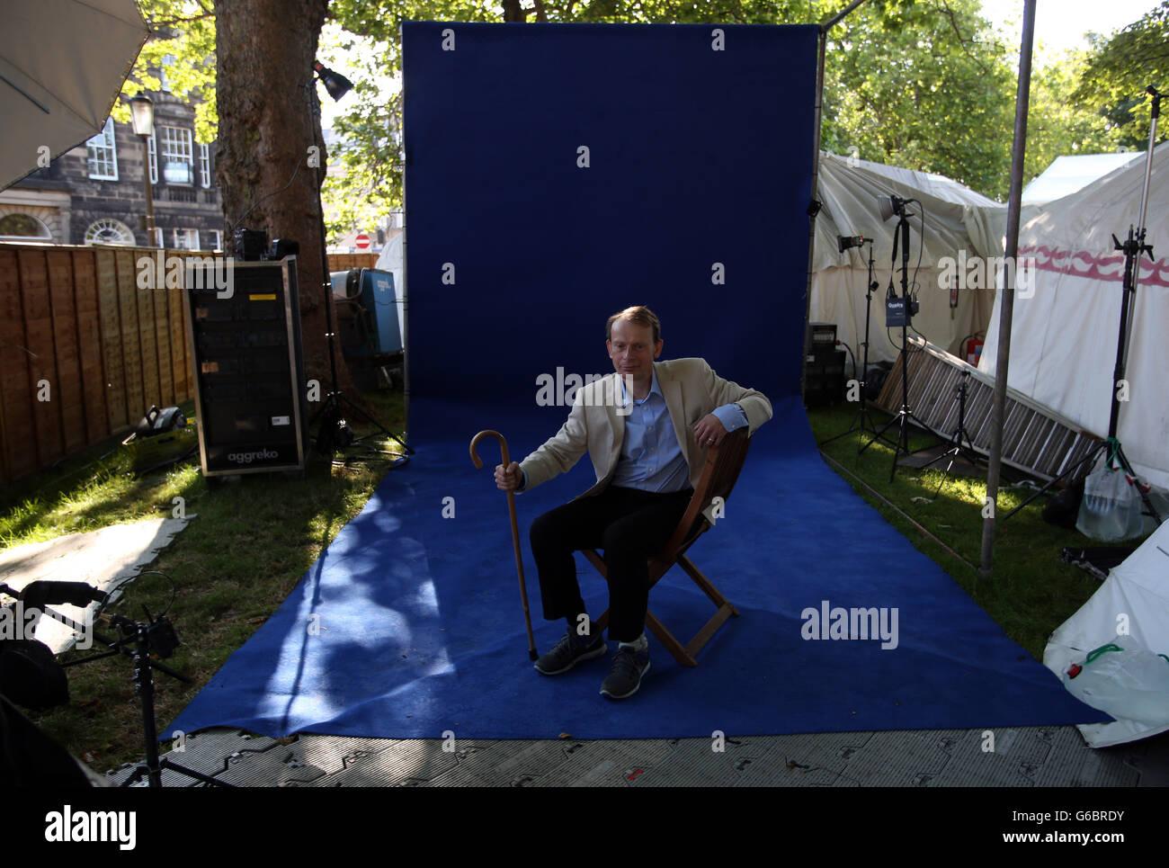 Andrew Marr at Edinburgh International Book Festival - Stock Image