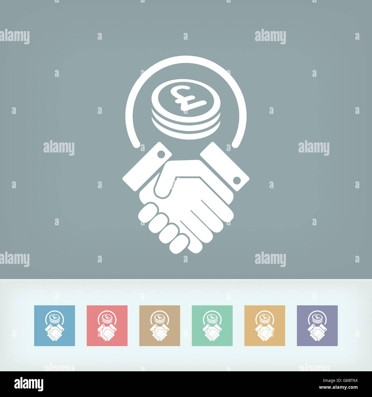 Business agreement - Sterling Stock Vector