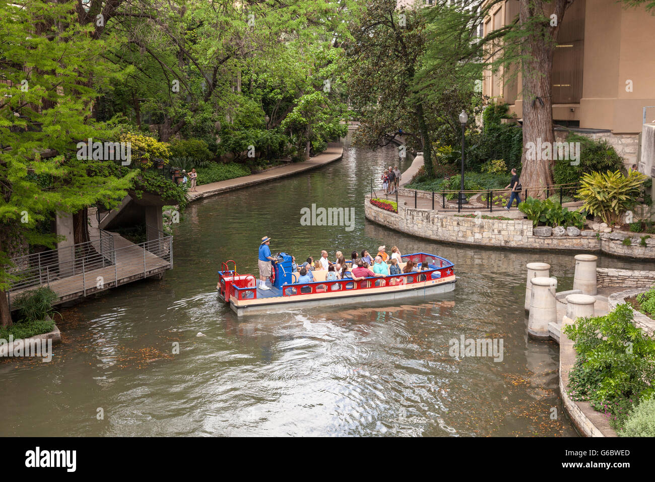 San Antonio River Walk, Texas - Stock Image
