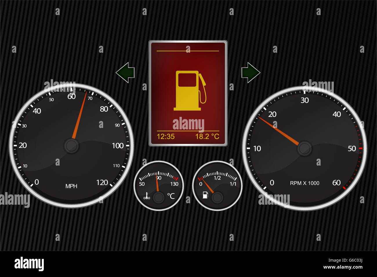Car Instrument Panel High Resolution Stock Photography And Images Alamy
