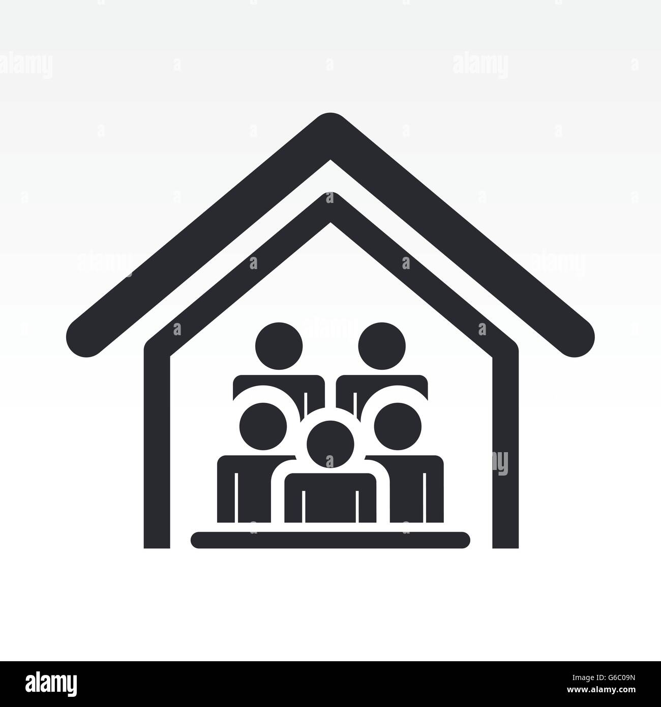 Vector illustration of guests house icon - Stock Vector