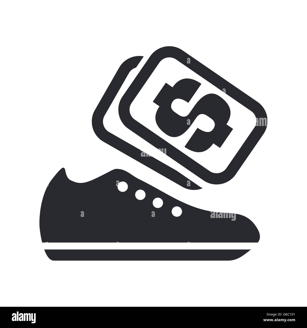 Vector illustration of shoes sale