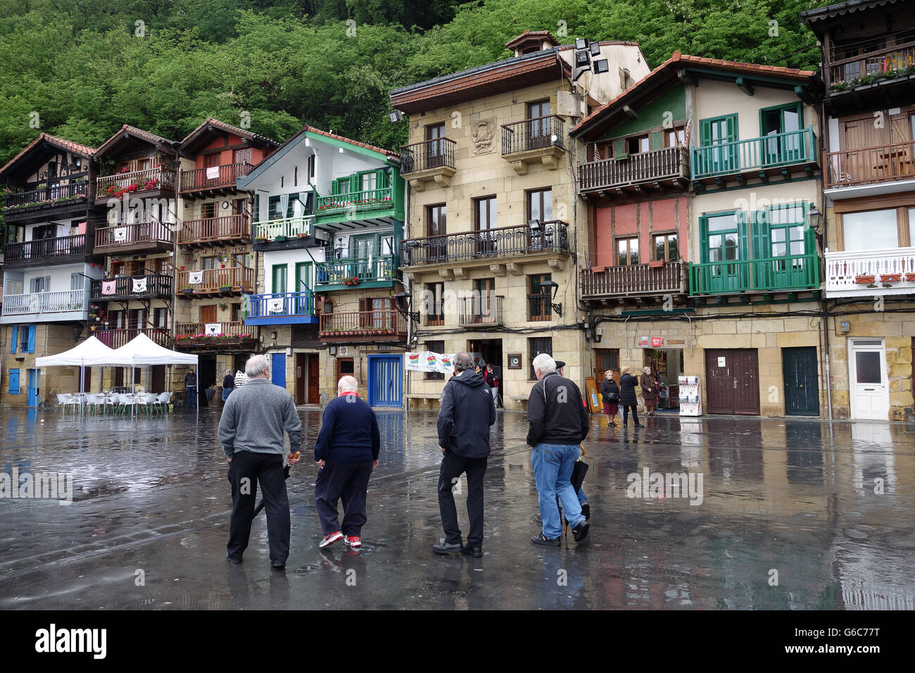 Pasaia or Pasajes located in the province of Gipuzkoa in the Basque Region of Spain - Stock Image