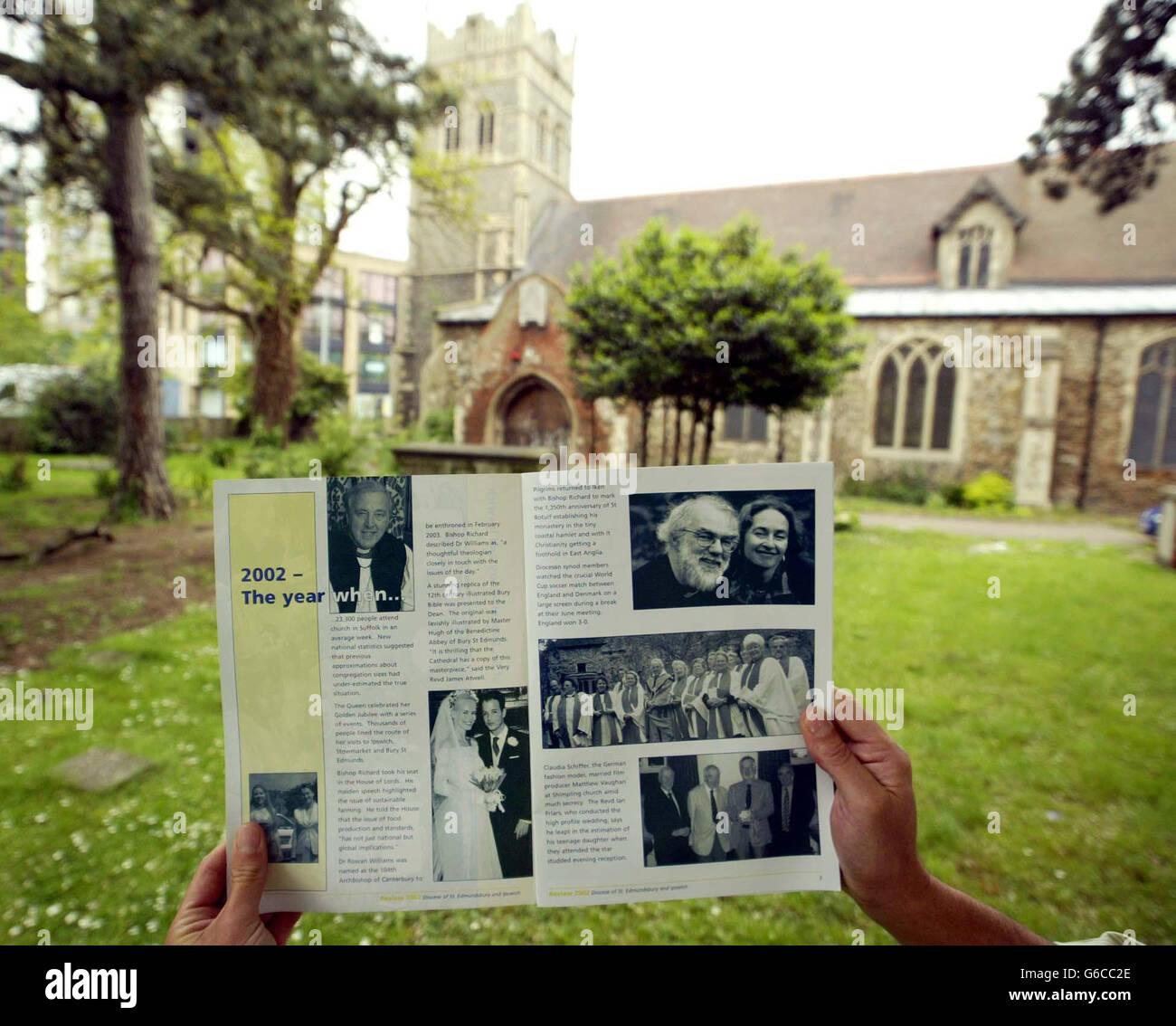 Clarke - Schiffer & Vaughan Wedding Photo - Stock Image