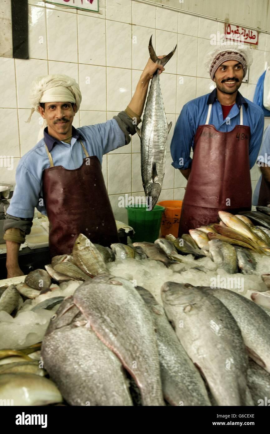 Zoco de Al-Ain_ Al Ain- United Arab Emirates- fish-sharjah - Stock Image