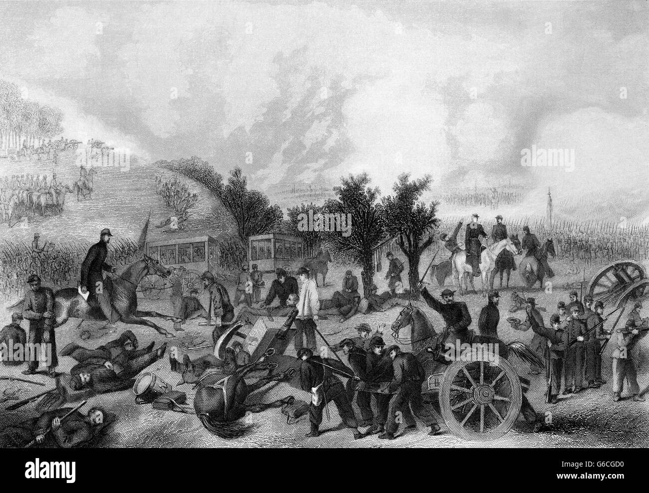 1860s JULY 1863 BATTLE OF GETTYSBURG - Stock Image