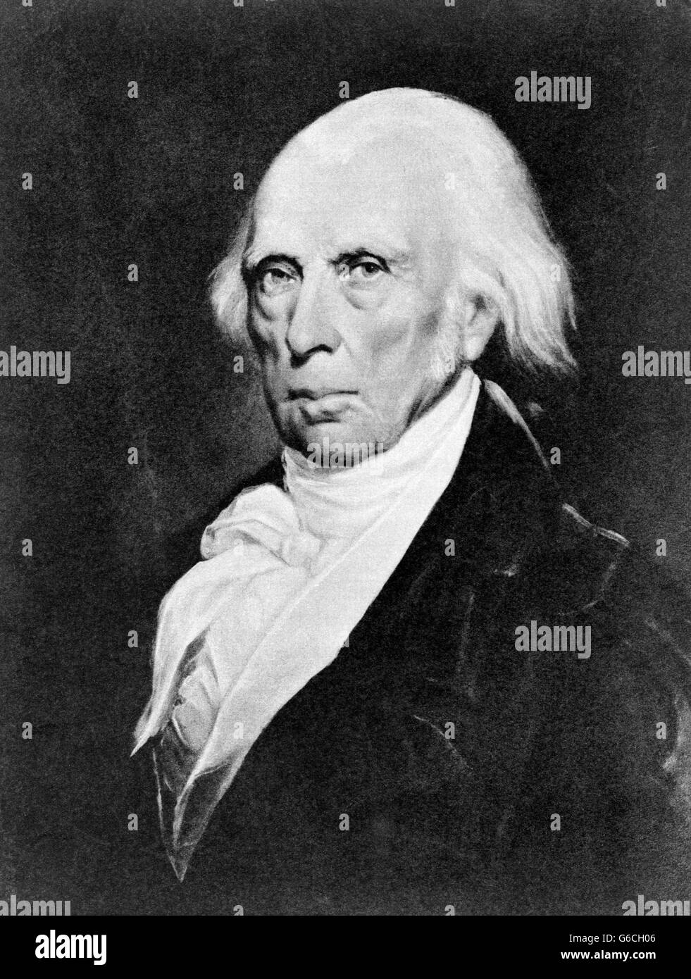 1830s PORTRAIT OF JAMES MADISON IN LATER YEARS FOURTH PRESIDENT OF THE UNITED STATES LOOKING AT CAMERA - Stock Image