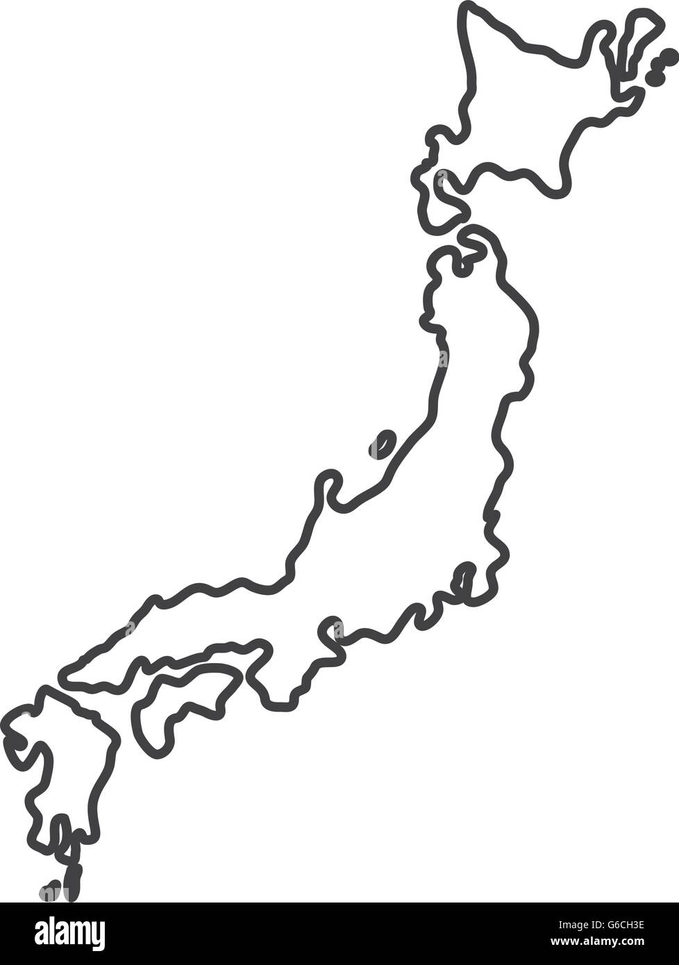 map  icon. Japan culture. Vector graphic - Stock Image