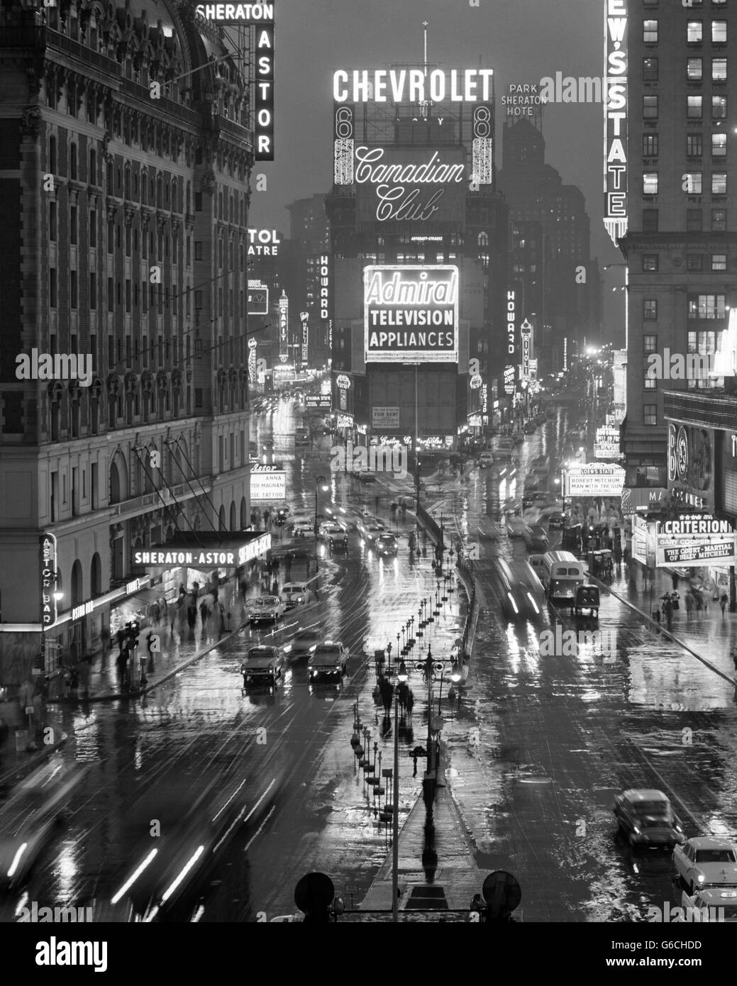 1950s Times Square New York City Looking North To Duffy