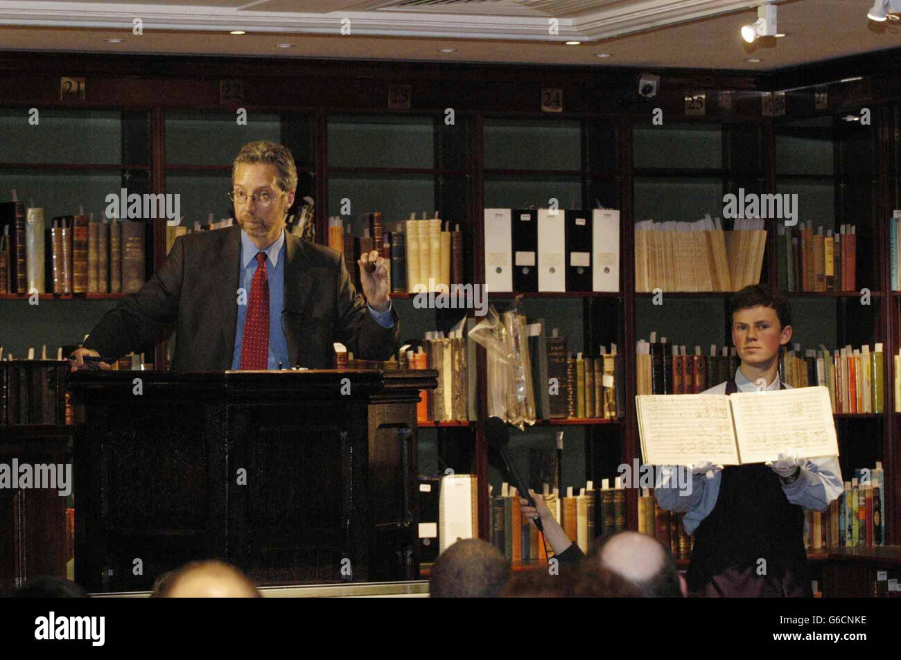 Beethoven auction at Sotheby's - Stock Image