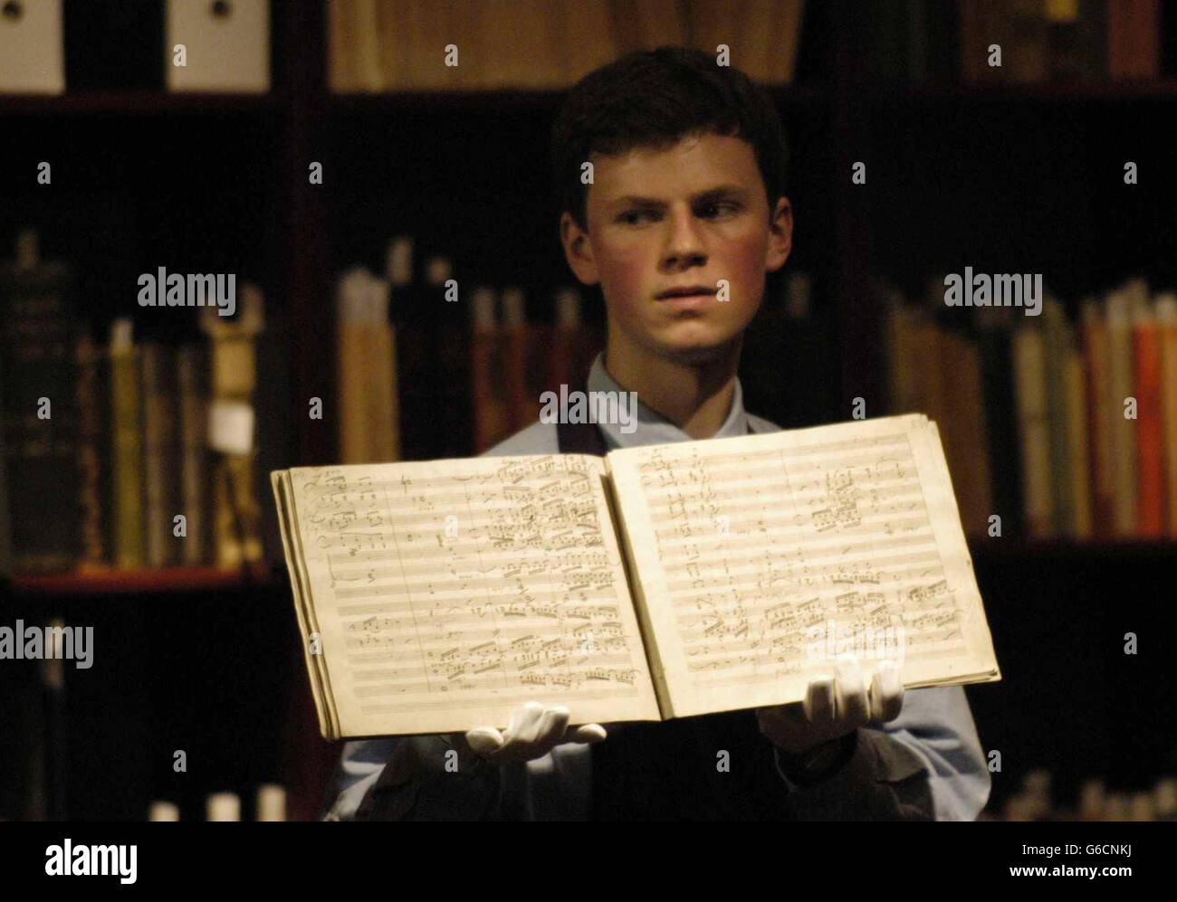 Sotheby's Auction Beethoven manuscript - Stock Image