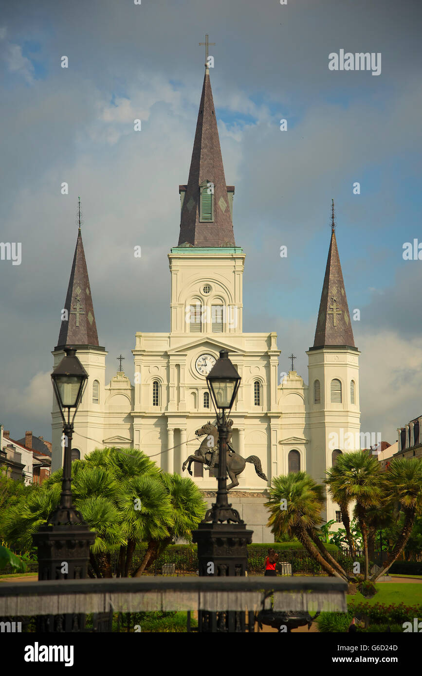 The Cathedral Of New Orleans A Louisiana City On The Mississippi