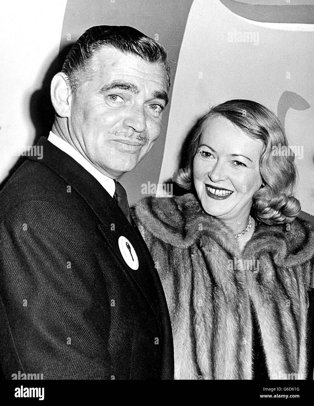 Clark Gable with wife Sylvia Ashley Stock Photo - Alamy