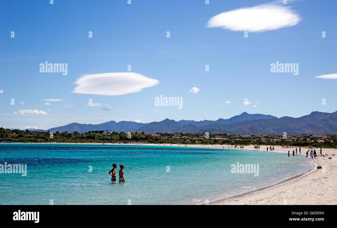 Carla Brandinchi Beach Sardinia Italy - Stock Image