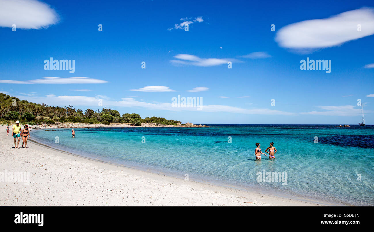 Cloud Formations Carla Brandinchi Beach Sardinia Italy Stock Photo