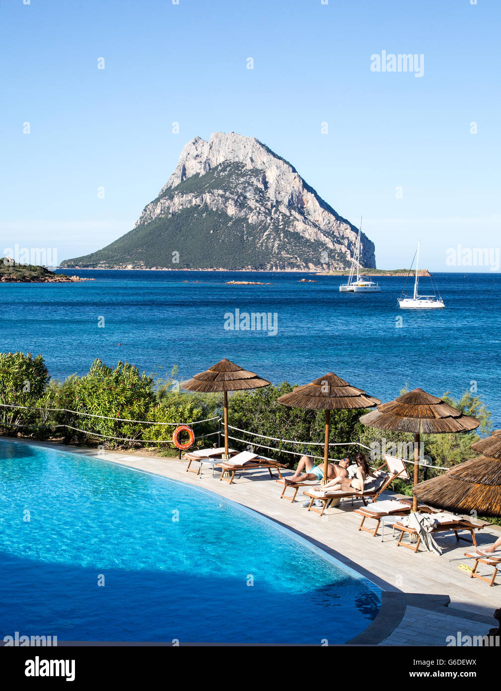 The Beach At Porto Paolo Sardinia Italy - Stock Image