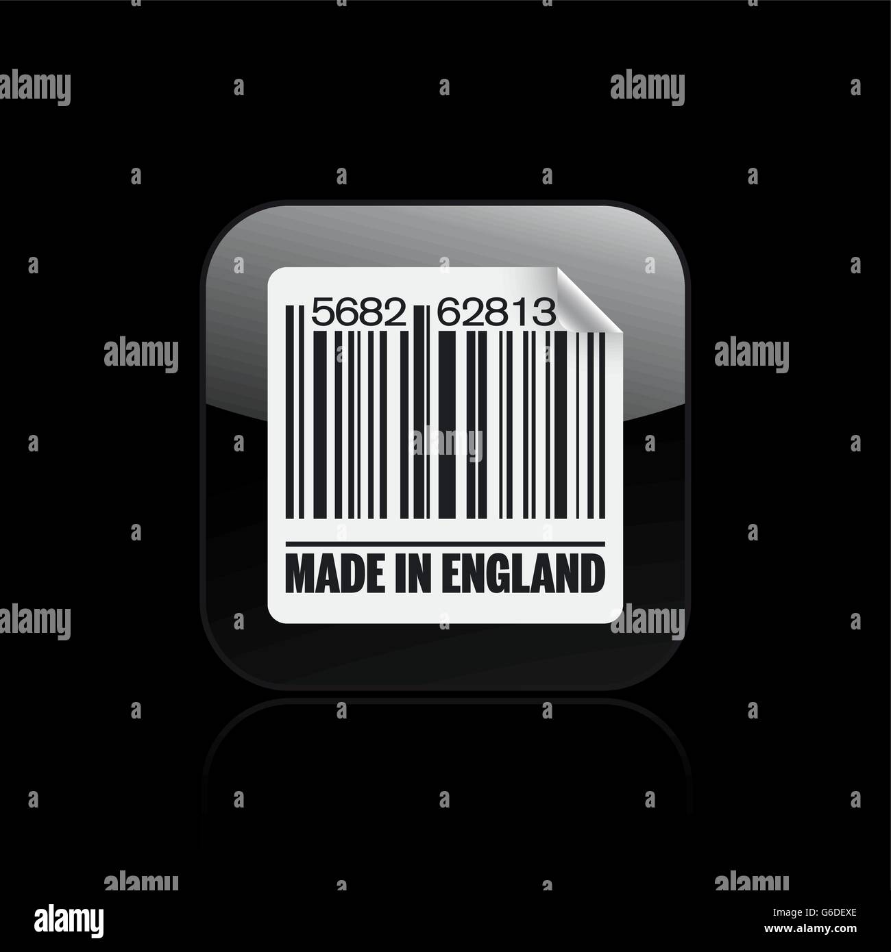 Vector illustration of single isolated England barcode icon - Stock Vector