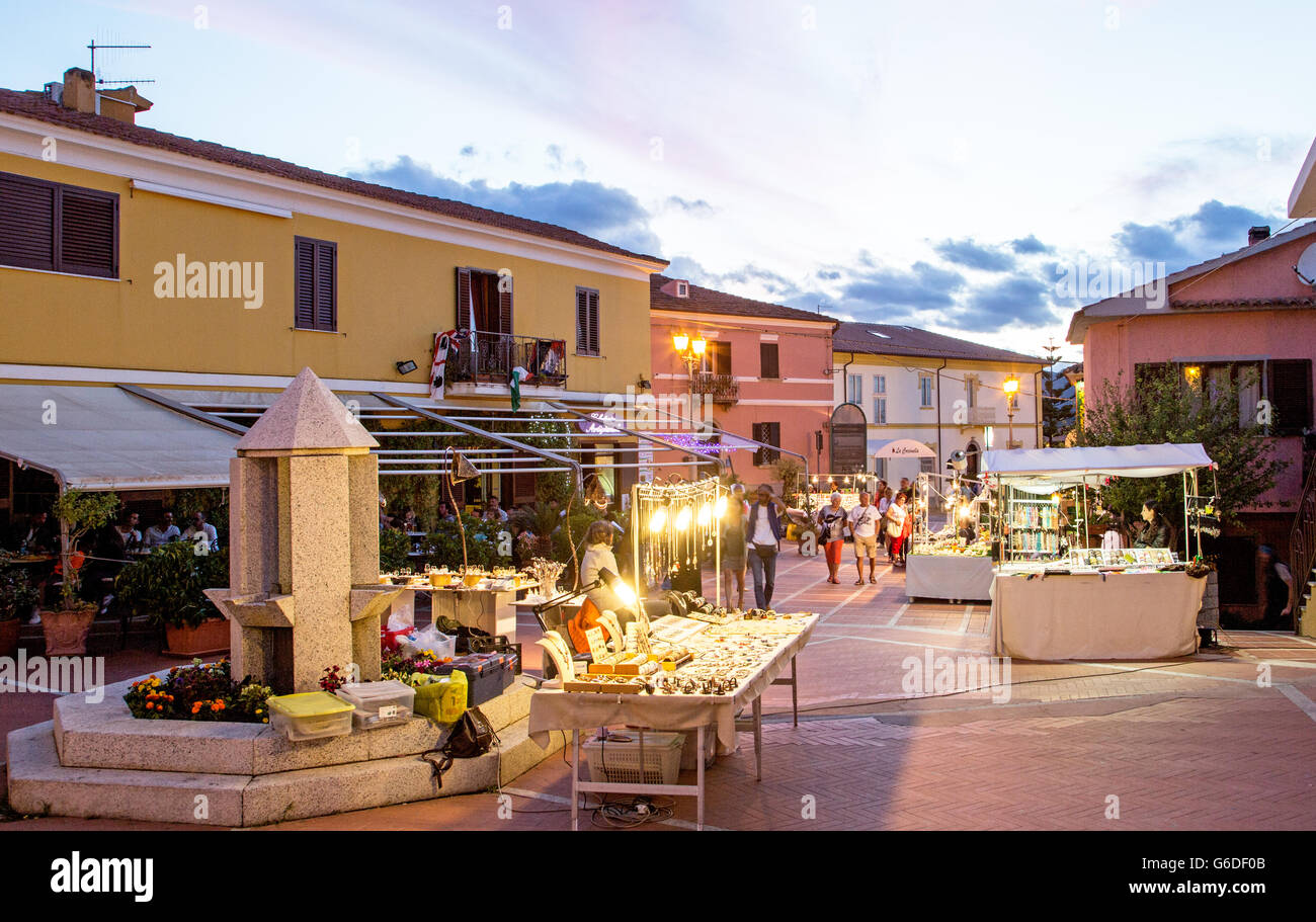 San Teodoro at Night Sardinia Italy - Stock Image