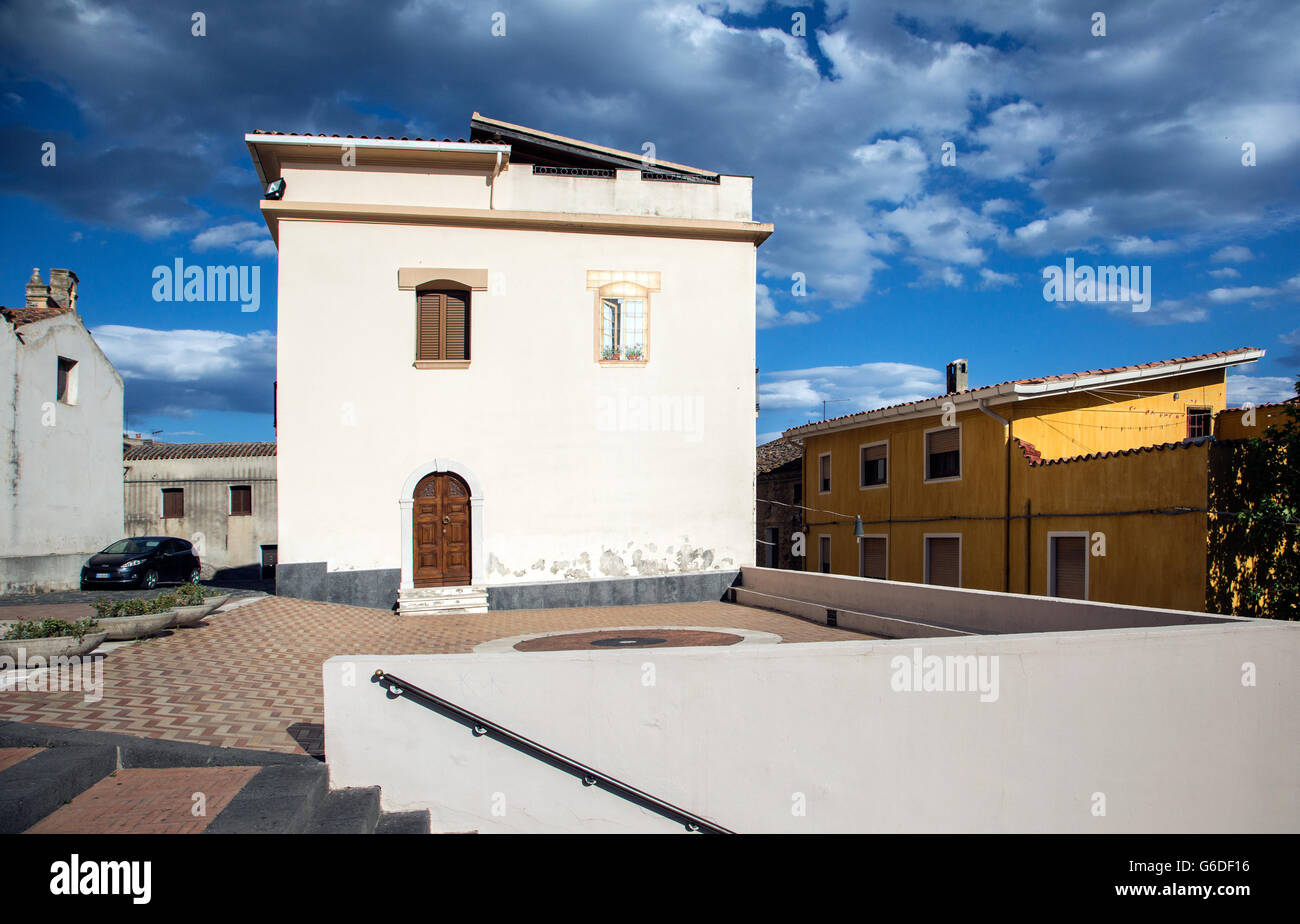 Medieval Town Of Orosei Sardinia Italy - Stock Image