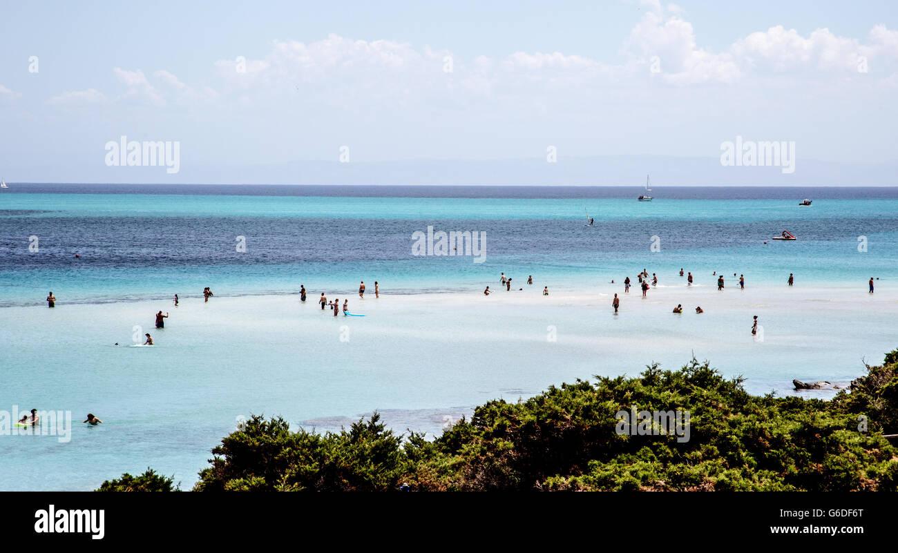 Stintino Beach Sardinia Italy - Stock Image