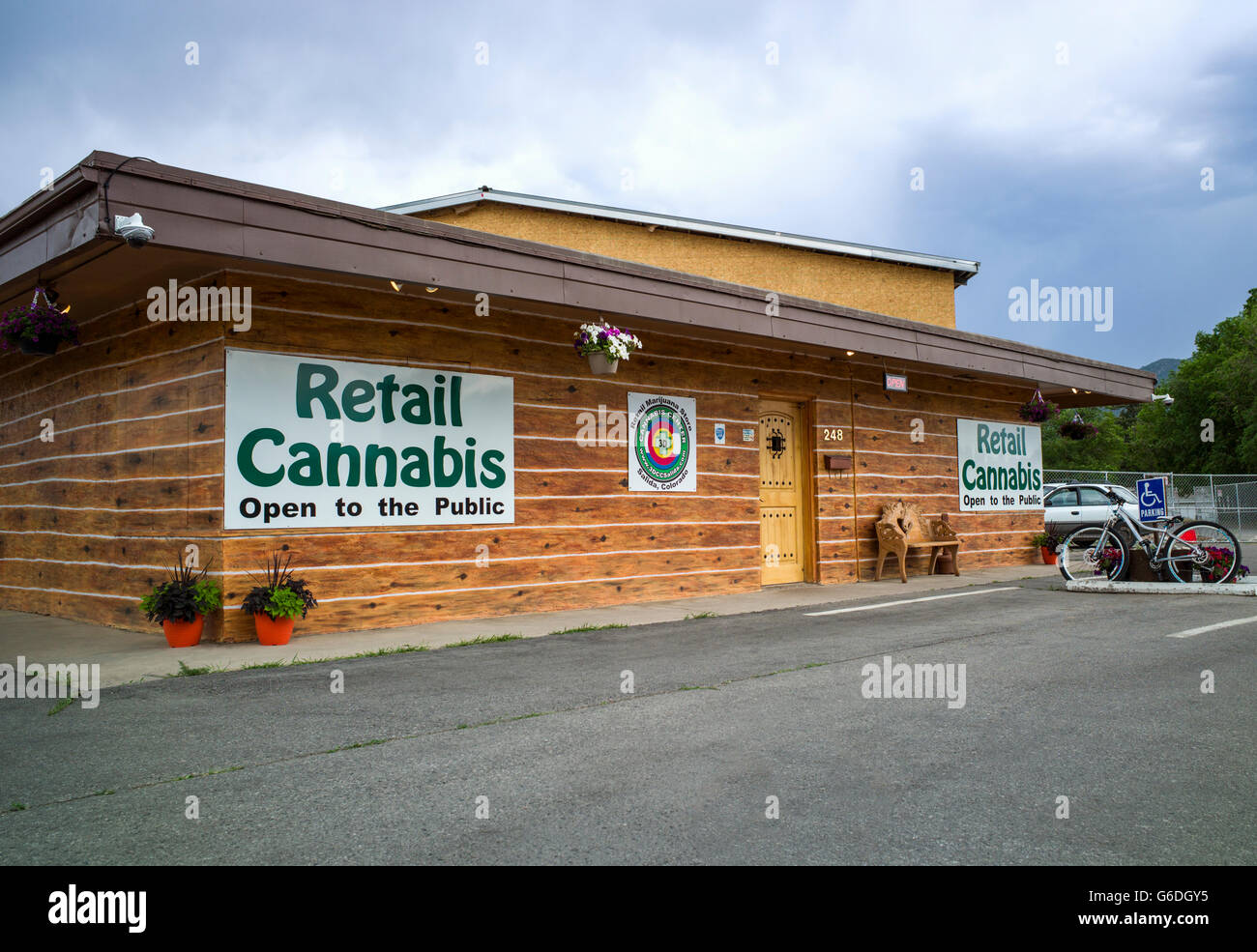 Retail Cannabis Marijuana store in Central Colorado; USA - Stock Image