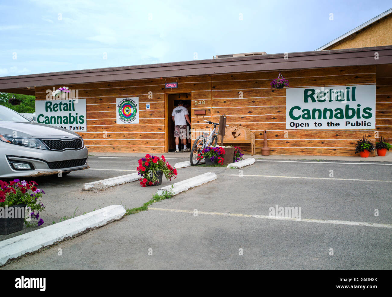 Retail Cannabis Marijuana store in Central Colorado; USA - Stock Image