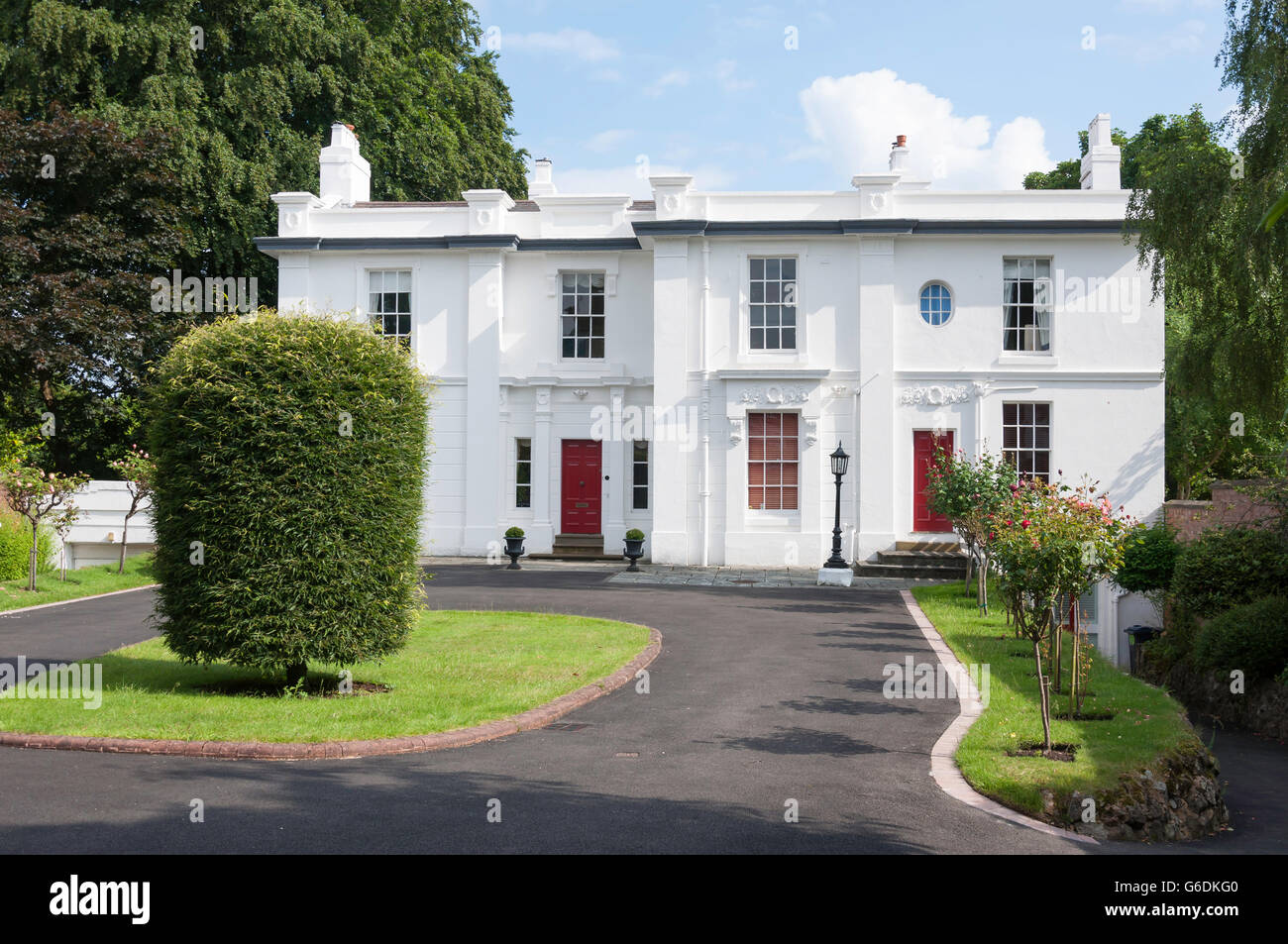 Large detached house, Wellington Road, Edgbaston, Birmingham, West Midlands, England, United Kingdom Stock Photo