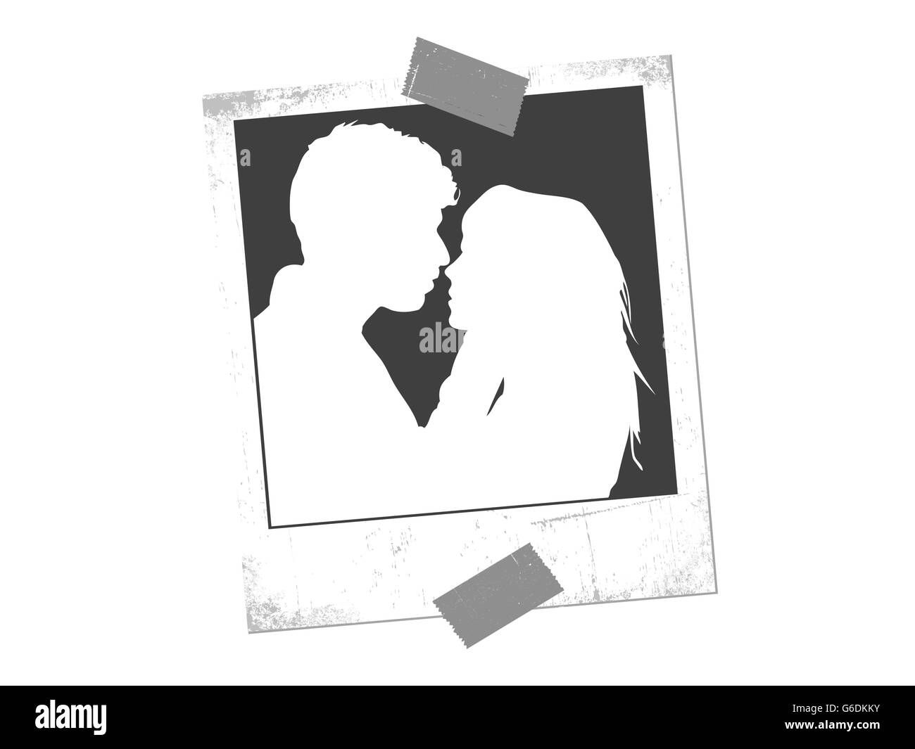Vector illustration of lovers background - Stock Vector