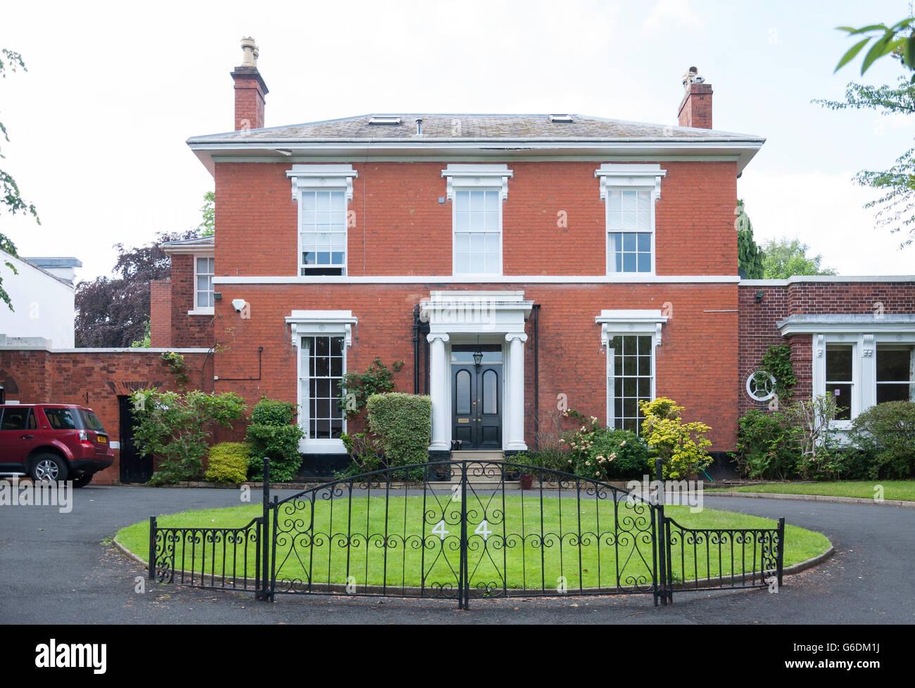 Large detached house, Wellington Road, Edgbaston, Birmingham, West Midlands, England, United Kingdom Stock Photo