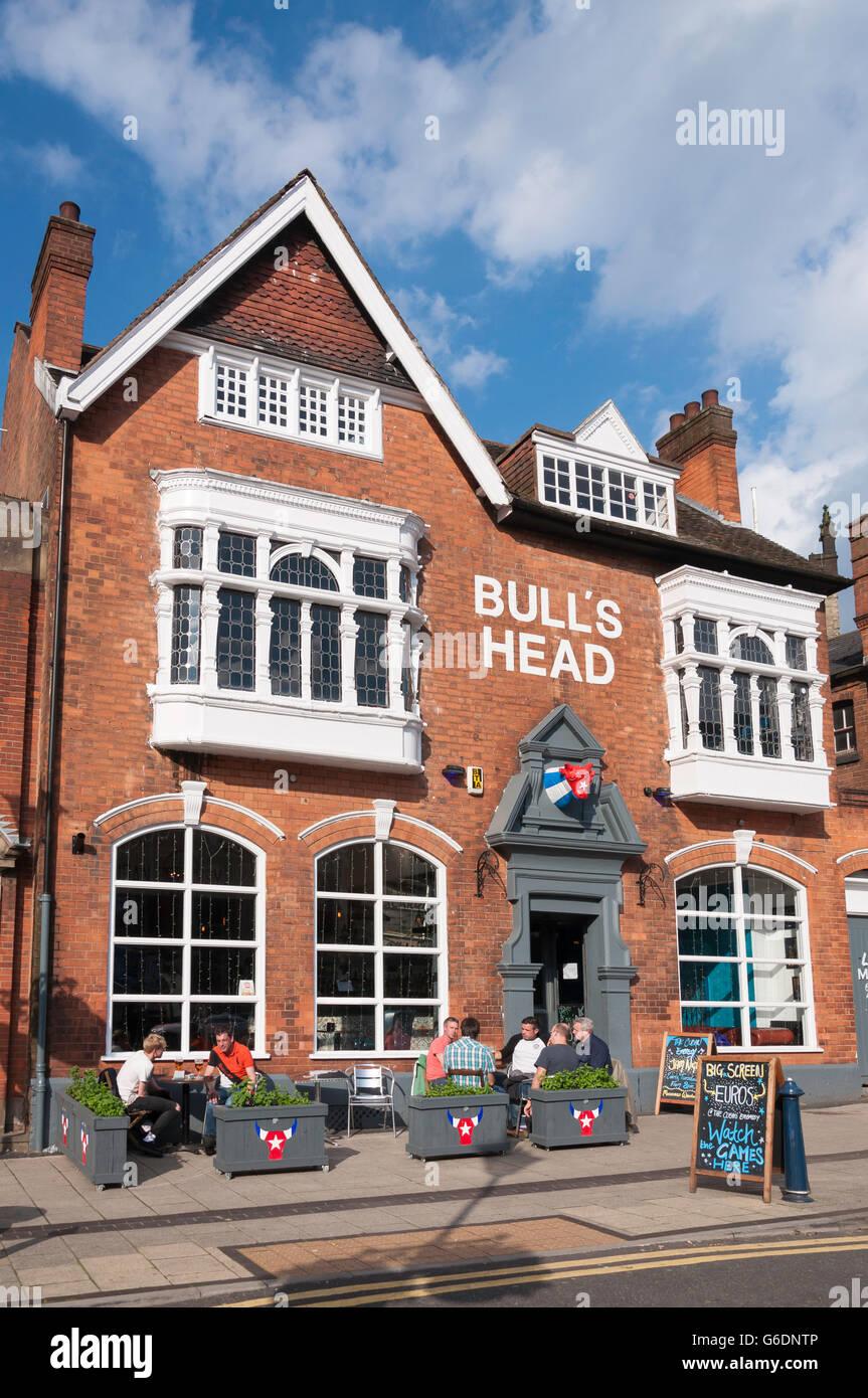 The Bull's Head Pub, High Street, Moseley Village, Moseley and Kings Heath, Birmingham, West Midlands, England, Stock Photo