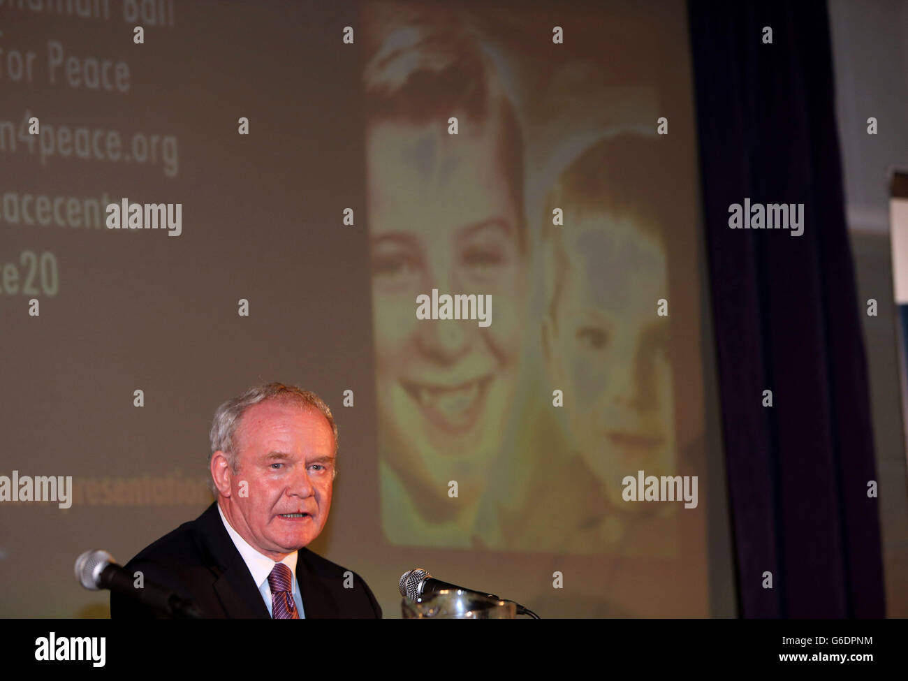 Tim Parry Johnathan Ball Foundation for Peace speech - Stock Image